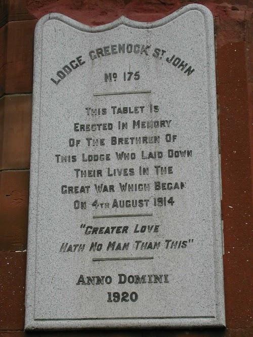 Lodge Greenock St John War Memorial