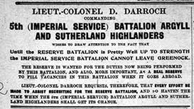 5th Argyll and Sutherland Highlanders